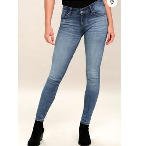 Lulu's Mica low rise skinny Jean's size 1